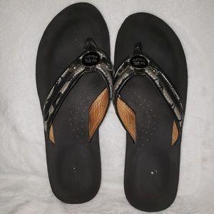 GUC Coach Jasmine Flip Flops Black Size 7